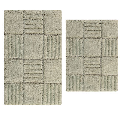 Castle Hill London Chakkar Board 2-pc. Bath Rug Set