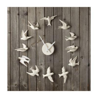 Porcelain Bird Wall Clock