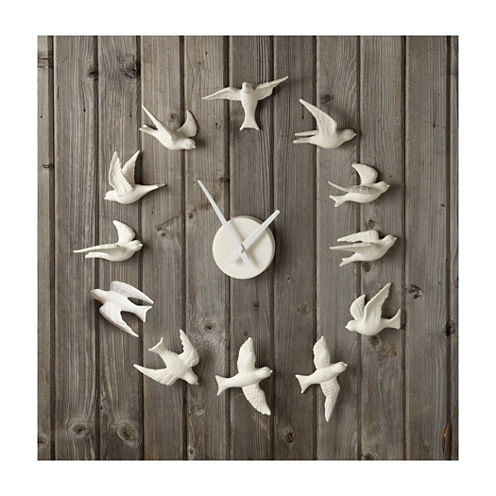 Porcelain Bird Wall Clock