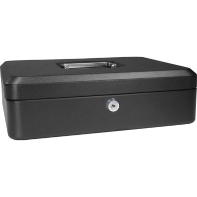 "Barska® 12"" Cash Box with Key Lock"