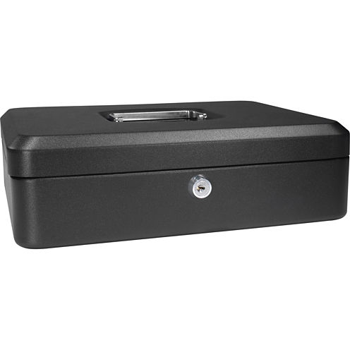 "Barska® 12"" Cash Box with Key Lock"