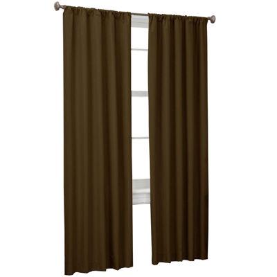 Microfiber Rod-Pocket 2-Pack Curtain Panels