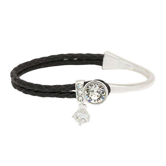 Sparkle Allure Silver Tone Bangle Bracelet