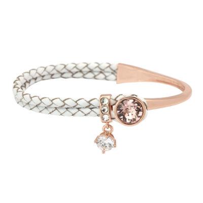 Sparkle Allure Womens Pink Gold Over Brass Bangle Bracelet