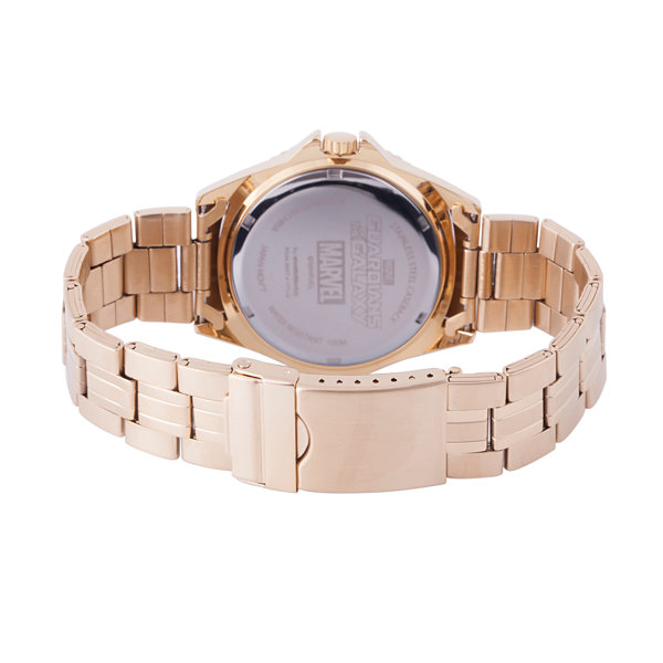 Guardian Of The Galaxy Marvel Mens Gold Tone Strap Watch-Wma000096