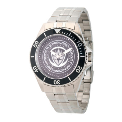 Guardian Of The Galaxy Marvel Mens Silver Tone Strap Watch-Wma000098