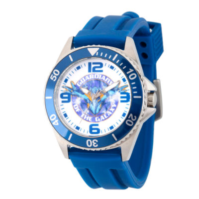 Guardian Of The Galaxy Marvel Mens Blue Strap Watch-Wma000099