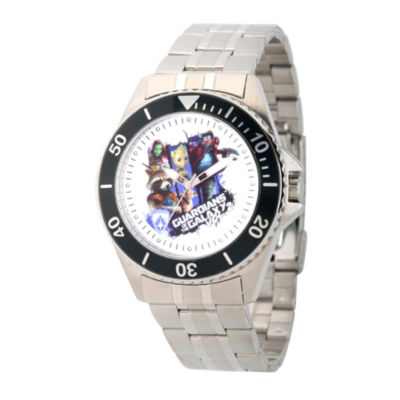Guardian Of The Galaxy Marvel Mens Silver Tone Strap Watch-Wma000101