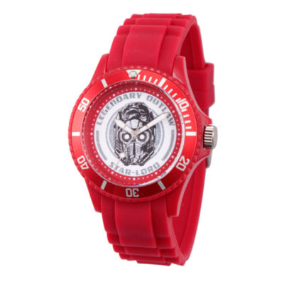 Guardian Of The Galaxy Marvel Mens Red Strap Watch-Wma000104