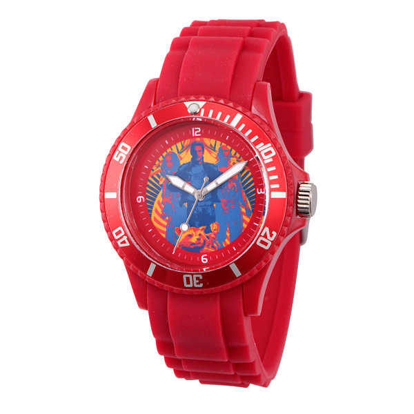 Guardian Of The Galaxy Marvel Mens Red Strap Watch-Wma000106