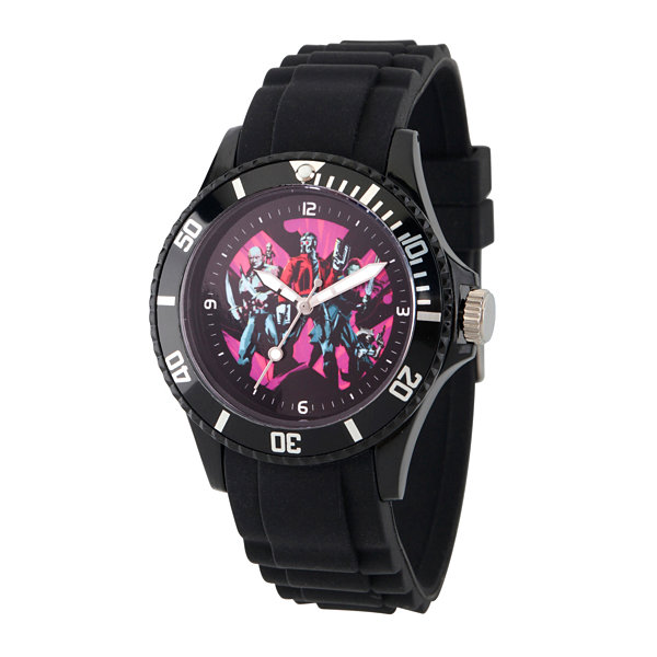 Guardian Of The Galaxy Marvel Mens Black Strap Watch-Wma000107