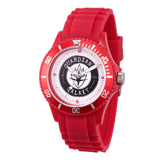 Marvel Guardian Of The Galaxy Marvel Mens Red Strap Watch-Wma000108