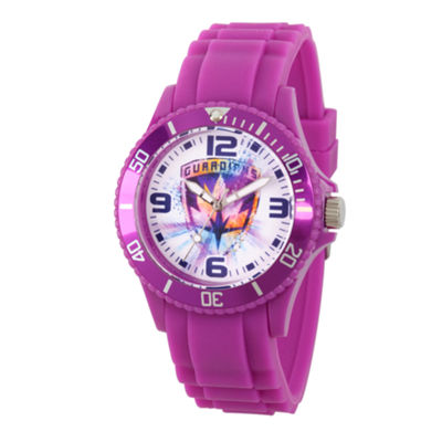 Guardian Of The Galaxy Marvel Mens Purple Strap Watch-Wma000110