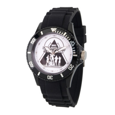 Guardian Of The Galaxy Marvel Mens Black Strap Watch-Wma000113