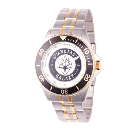 Marvel Guardian Of The Galaxy Marvel Mens Two Tone Stainless Steel Strap Watch-Wma000121. One Size