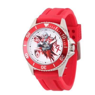 Guardian Of The Galaxy Marvel Mens Red Strap Watch-Wma000123