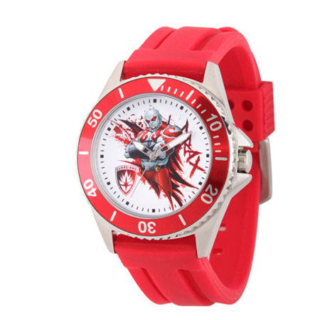 Marvel Guardian Of The Galaxy Marvel Mens Red Strap Watch-Wma000123. One Size