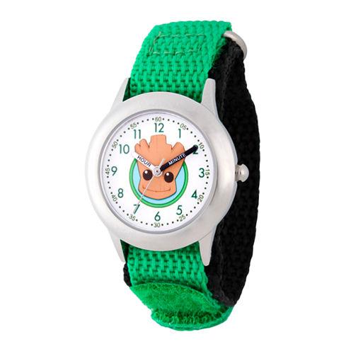 Guardian Of The Galaxy Marvel Boys Green Strap Watch-Wma000131