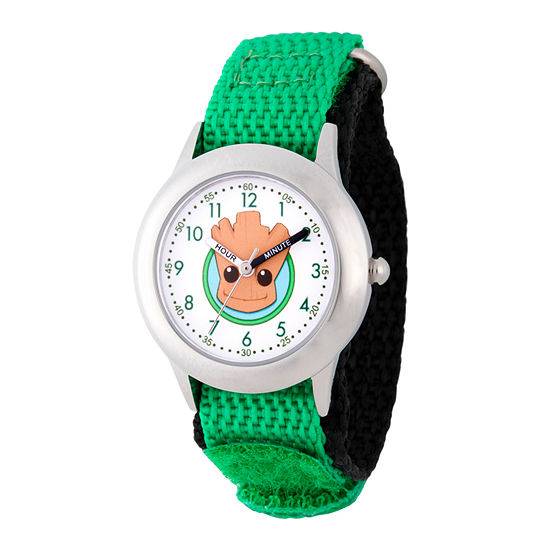 Marvel Guardian Of The Galaxy Marvel Boys Green Strap Watch-Wma000131