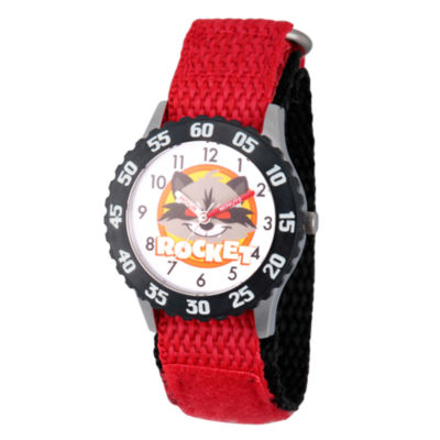 Guardian Of The Galaxy Marvel Boys Red Strap Watch-Wma000132