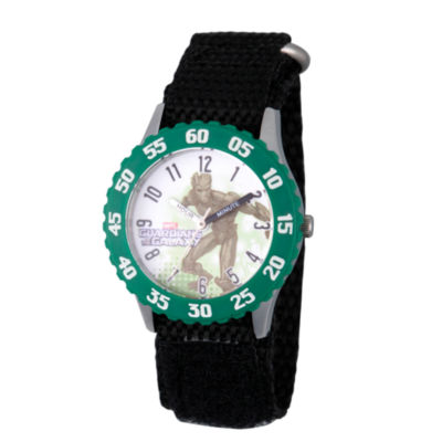 Guardian Of The Galaxy Marvel Boys Black Strap Watch-Wma000133
