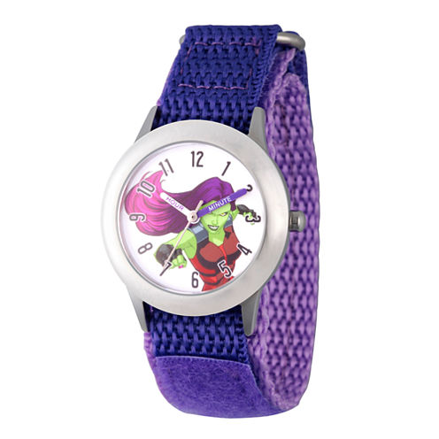 Guardian Of The Galaxy Marvel Girls Purple Strap Watch-Wma000134