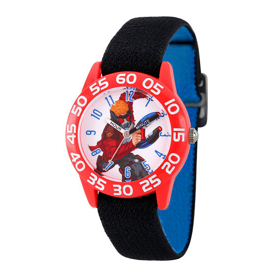 Marvel Guardian Of The Galaxy Marvel Boys Black Strap Watch-Wma000137