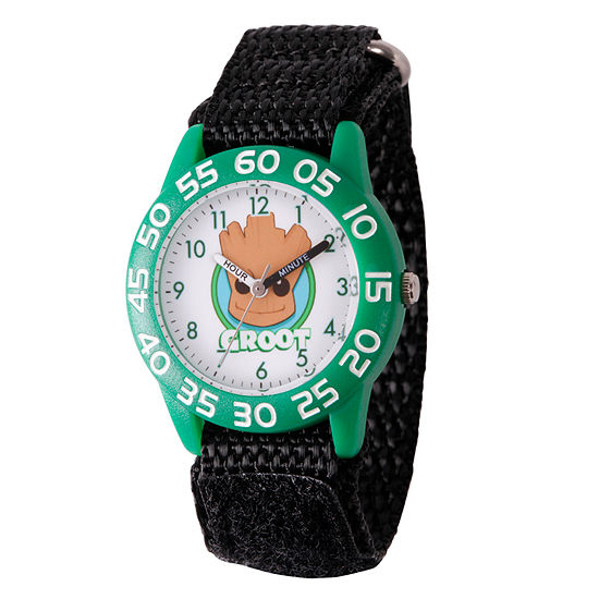 Marvel Guardian Of The Galaxy Marvel Boys Black Strap Watch-Wma000138