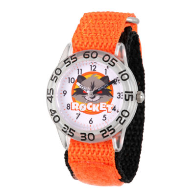 Guardian Of The Galaxy Marvel Boys Orange Strap Watch-Wma000139