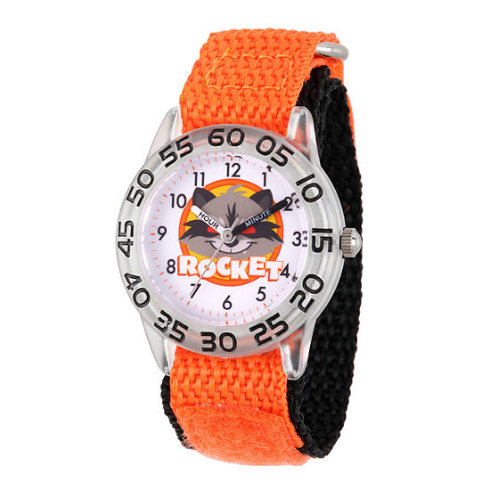 Marvel Guardian Of The Galaxy Marvel Boys Orange Strap Watch-Wma000139