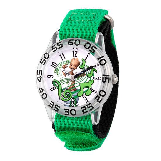 Marvel Guardian Of The Galaxy Marvel Boys Green Strap Watch-Wma000140