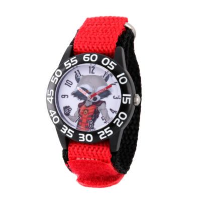 Guardian Of The Galaxy Marvel Boys Red Strap Watch-Wma000142