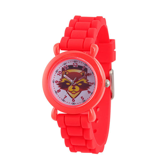 Marvel Guardian Of The Galaxy Marvel Boys Red Strap Watch-Wma000146