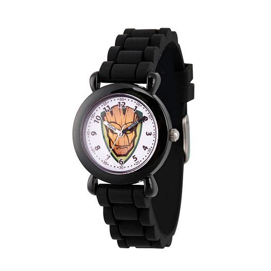 Marvel Guardian Of The Galaxy Marvel Boys Black Strap Watch-Wma000148