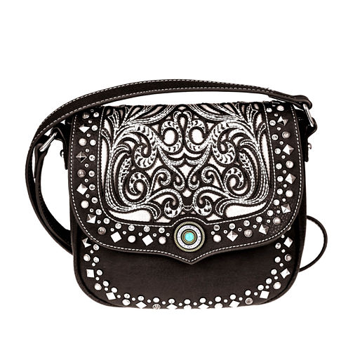 Montana West Ella Laser-Cut Flap Crossbody Bag
