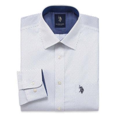 U.S. Polo Assn. Long Sleeve Woven Pattern Dress Shirt - Slim