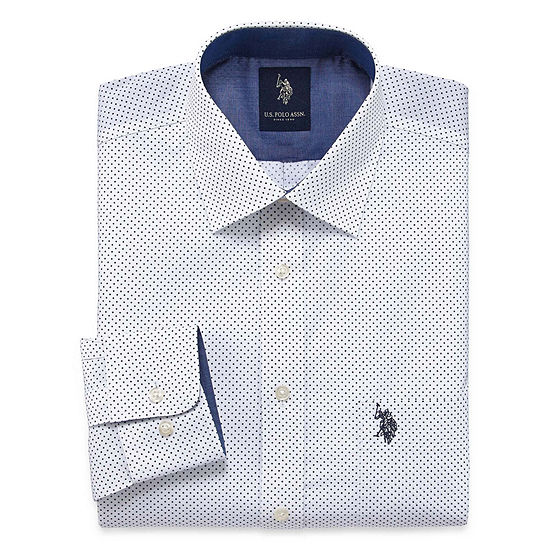 U.S. Polo Assn. - Slim Mens Spread Collar Long Sleeve Dress Shirt