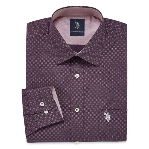 U.S. Polo Assn. Slim Fit Easy-Care Long Sleeve Dress Shirt