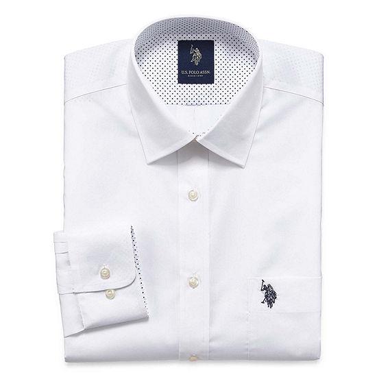 U.S. Polo Assn. Mens Spread Collar Long Sleeve Dress Shirt - Slim