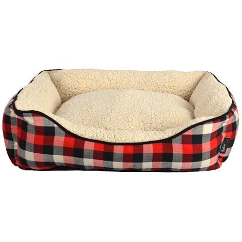 Woolrich Rectangular Cuddler Dog Bed