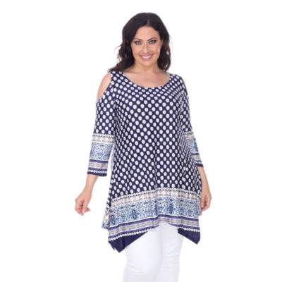 White Mark Antonia Tunic Top-Plus