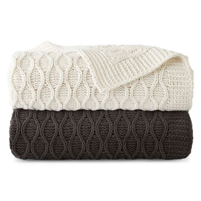 JCPenney Home Chunky Chenille Throw