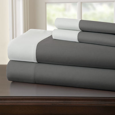 Pacific Coast Textiles 400 Thread Count 3 pc sheetset with contrast hem