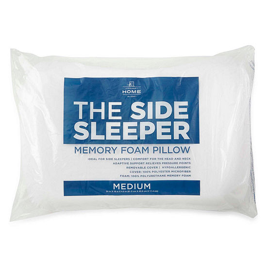 JCPenney Home Side Sleeper Memory Foam Medium Density Pillow