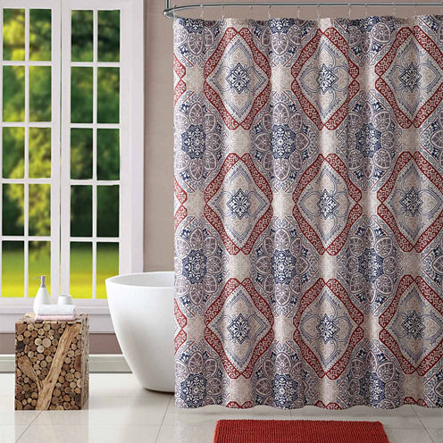 Home Expressions Marco Medallion Shower Curtain Set
