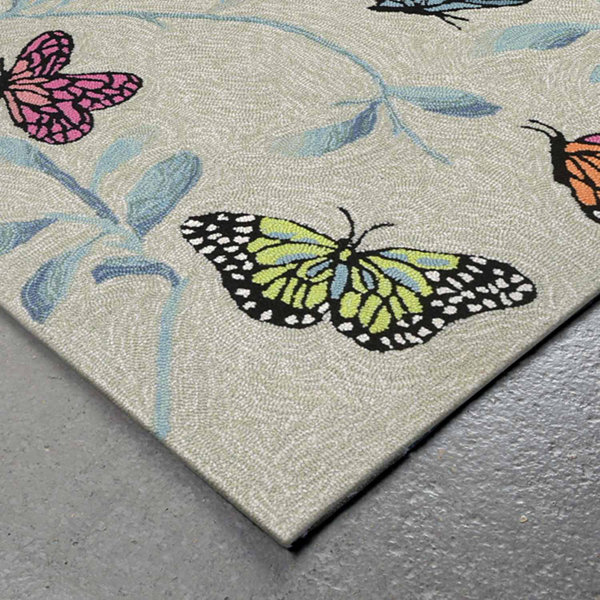 Liora Manne Ravella Butterflies On Tree Hand Tufted Rectangular Rugs