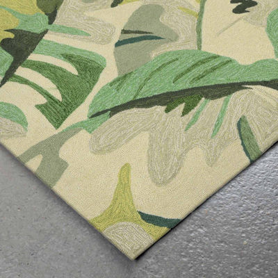 Liora Manne Capri Palm Leaf Hand Tufted Rectangular Rugs