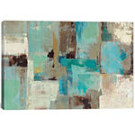 Icanvas Teal And Aqua Reflections #2 Canvas Art