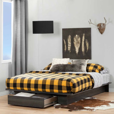 South Shore Holland Full Queen Platform Bed With Drawer