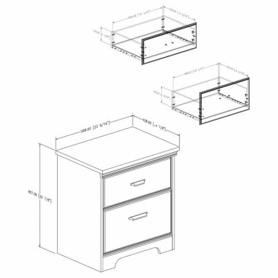Versa 2-Drawer Nightstand